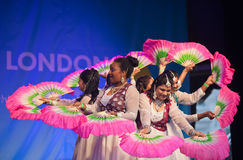 Indian dance troupe Royalty Free Stock Photo