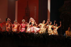 Indian dance troupe Royalty Free Stock Photography