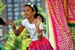 Indian Dancer. SAINT PAUL - AUGUST 11, 2012:  A Young Dancer entertains the crowd at India Fest on August 11, 2012, in St. Paul, Minnesota Royalty Free Stock Images