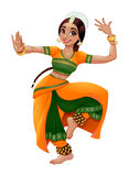 Indian dancer. Cartoon vector isolated character Stock Images