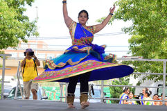 Indian Dancer at Chinatown Summer Fair Royalty Free Stock Image