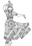 Indian dancer in a patterned dress Royalty Free Stock Photography