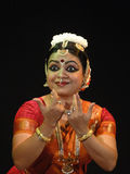 Indian dancer performs classical dance Royalty Free Stock Photos