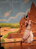 Indian dancer performs classical dance Stock Photo