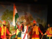 Indian dancer performs classical dance Stock Photos