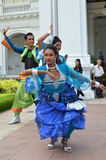 Indian dancer performs at the Istana, Singapore Royalty Free Stock Image
