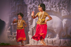 Indian dancer performs traditional dance Royalty Free Stock Photo