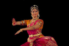 Indian dancer performs traditional dance Stock Photos