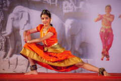 Indian dancer performs traditional dance Stock Photo