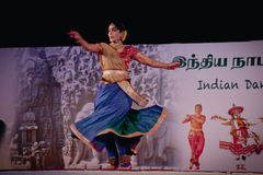 Indian dancer performs traditional dance Stock Image