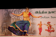 Indian dancer performs traditional dance Stock Photography
