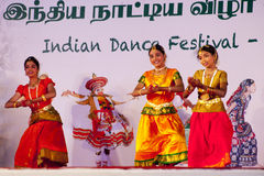Indian dancer s performs traditiona dances festival Stock Photo