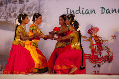 Indian dancer s performs traditiona dances festival Royalty Free Stock Image