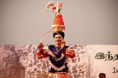 Indian dancer s performs traditiona dances festival Stock Image
