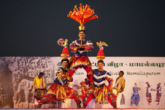 Indian dancer s performs traditiona dances festival Stock Photography