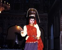 Indian dancer in the Samode Palace. Stock Image