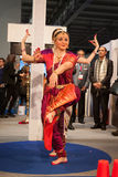 Indian dancers performing at Bit 2014, international tourism exchange in Milan, Italy Royalty Free Stock Photography
