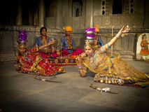 Indian dancers. Royalty Free Stock Photography
