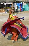 Indian Dancing Girl in Action royalty free stock images