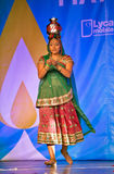 Indian dancing woman Stock Images