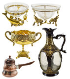 Indian decorated dishware Royalty Free Stock Photography