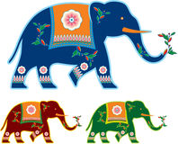Indian Decorated Elephant Royalty Free Stock Photo