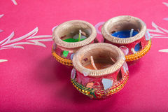 Indian decorative candle cup Stock Photography