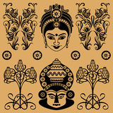 Indian decorative pattern Royalty Free Stock Photo