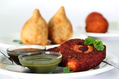 Indian deep fried snack cutlet made of potatoes Stock Photography