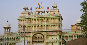 Indian Deity Sati God temple in Rajasthan. Sati  is an obsolete Indian funeral custom where a widow immolated herself on her husba Stock Photo