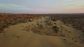 Indian desert. Nature, outdoor, background. Aerial shot.Indian desert. Nature, outdoor, background. Professional shot in 4K resolution. 024. You can use it e.g stock footage