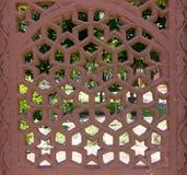 The indian design carving screen Stock Photos