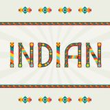 Indian design word with ornament Royalty Free Stock Photo