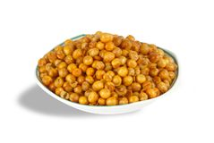 Spicy Peas. Indian Desser Spicy Peas snack stock photos