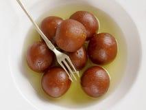 Indian dessert gulab jamun Royalty Free Stock Photo