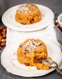 Indian dessert semolina and nuts Royalty Free Stock Image