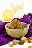 Indian dessert (semolina pudding) Royalty Free Stock Photos