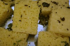 Indian Dhokla Royalty Free Stock Photography
