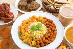 Indian dining meal Royalty Free Stock Photography