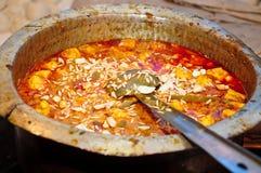 Indian dish. (shahi paneer)  at a Dhaba/Hotel Royalty Free Stock Photo