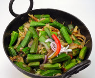 Indian Dish-Bhindi Masala Royalty Free Stock Photo