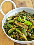 Indian Dish-Bhindi Masala Royalty Free Stock Image