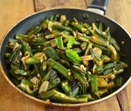 Indian Dish-Bhindi Masala Royalty Free Stock Photo
