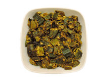 Indian Dish - Bhindi/Okra fry Stock Image