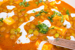 Indian dish of cottage cheese and peas Royalty Free Stock Photos