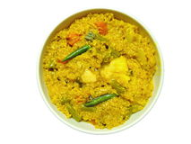 Indian dish - Dal khichdi Stock Photos
