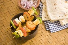 Indian Dish Kathi Kebab Royalty Free Stock Images