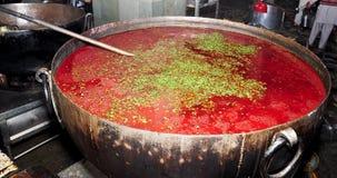 Indian dish-Lentil. At a langar (community kitchen) at Golden temple,Amritsar Stock Photo