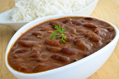 Rajma Chawal or Rice Stock Photo