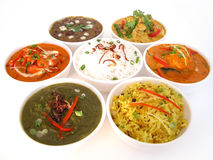 Indian dishes Stock Images
